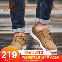 Camel mens shoes summer trend casual shoes male leather wild hiking outdoor mens casual shoes mens shoes