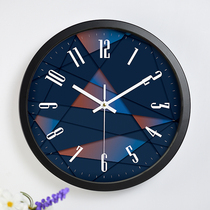 Mute clock bedroom clock living room clock decoration quartz clock creative clock metal hanging tables