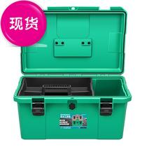 Waterproof toolbox set multi-functional portable car repair tools car home large five-gold electrician 11 collection.