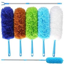 (Clean good helper)thickened retractable fiber feather duster dust Duster car with static dust