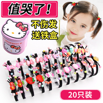 Childrens hair band hair baby headdress does not hurt hair girl hair accessories cute hair ring Korean rubber band hairpin