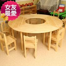 Creative adjustable home splicing office layout kindergarten desks and chairs combination G nail table Nordic style