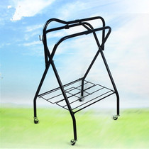 Saddle Shelf iron Pipe vertical Active folding placement display saddle with cage harness horse
