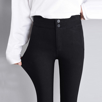 Black pants female 2019 new spring and autumn High Waist Leggings Pants women wear elastic significantly thin pencil pants feet