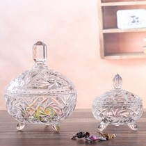European candy jar glass sugar jar candy Cup storage jar snack jar with lid glass jar wedding decoration