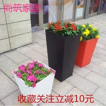 Outdoor iron flower box flower groove creative fence iron flower box outdoor flower bucket home gardening Square Flower groove combination
