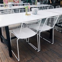 Simple casual cafe tables and chairs net red dessert tea shop tables and chairs combination dining snack bar marble fresh