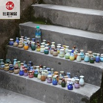 Random 8 different Jingdezhen ceramic small vase mini flower creative ornaments flower plug home goods