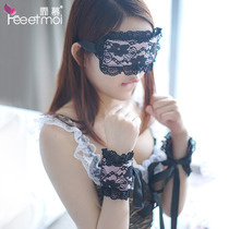 Sexy lace blindfold handcuffs suit maid maid uniform temptation flirt tied up sexy lingerie