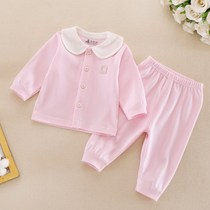 Baby underwear set cotton 0-1 year old baby autumn pants - 6 months clothes long-sleeve lap newborn