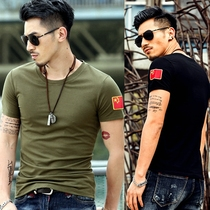 Summer camouflage short-sleeved T-shirt male Special Forces training Army self-cultivation cotton half-sleeved compassionate clothes male
