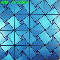Self-adhesive tile comes with glue metal mosaic wall stickers TV background wall stickers interior wall bar decoration