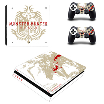 Sony PS4 SLIM sticker corps autocollants ps4 new slim douleur autocollants film la couleur des autocollants pour envoyer poignée 82