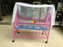 Baby bed eco-friendly BB bed with mosquito net baby bed baby bed with fence baby bed factory straight