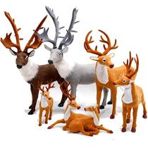 Simulation of Deer Deer Deer Deer ornaments shopping window Christmas decorations props supplies deer doll