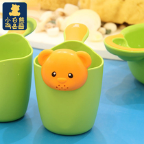 Small white bear flagship store baby shower bath spoon baby bath bath water scoop water scoop 09265