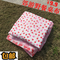 Printing disposable picnic cloth picnic table cloth disposable picnic pad plastic tablecloth Outdoor Waterproof thickening