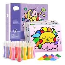Parent-child hand-drawn children sand painting creative gift scribbling board novice flash fill girl toys color