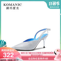 Comanique 2019 summer new womens shoes fine with empty sandals female fairy diamond high heels