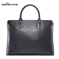 Seven brand men's briefcase autumn and winter business handbag men's fashion Office hand bag horizontal PC bag male
