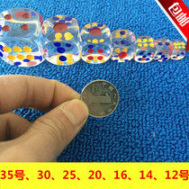 Large dice Crystal transparent dice game toy 20 35 transparent dice color dice