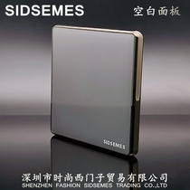 86 type Wall concealed frameless large switch socket panel home silver gray black blank panel cover