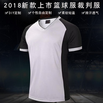 2018 new basketball referees serve mens breathable competition referee top referee personality print print basketball suit
