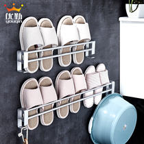 Free punch bathroom slippers rack wall hanging paste toilet toilet storage artifact drain rack toilet