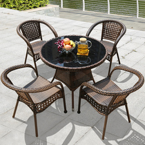 Shang Lun outdoor table and chair rattan chair three-five sets of combination outdoor courtyard balcony small coffee table simple leisure Teng chair