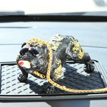 Social dog car ornaments tattoo nouveau riche decorations personality simulation dog Bully dog car supplies