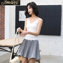 White Spring Woman 2019 new Korean version fashion tide temperament mature slimming Lace sling vest Sleeveless Top