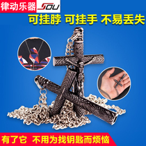 Drums Drums accessories drum lock drum key Square wrench tune drum tool cross necklace pendant