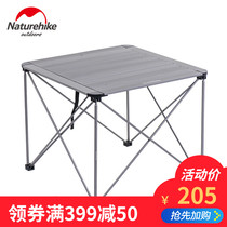 NH Outdoor aluminum folding table and Chair stool set field camping picnic portable Table Chairs Stool Package