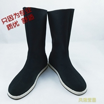 Costume antique cos Han opera bow shoes cotton cp men and women within the increased officer soldiers photography props Alice boots