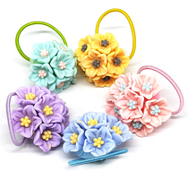 Children tie hair rubber band Girl head flower jewelry Flower Hair Ring baby Princess headdress head rope child hair accessories