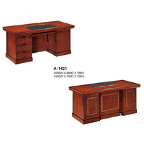 Solid wood class desk 1 6 meters computer desk 1 4m clerk desk boss table stickers veneer desk manager writing desk