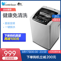 Small swan washing machine automatic household 8 kg frequency small elution one dormitory TB80V21D