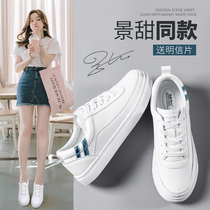 Small white shoes autumn female 2018 New wild Korean version of the basic autumn and winter shoes net red winter shoes plus cashmere cotton shoes