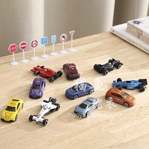 Car toys 10 packed alloy simulation car parents play together