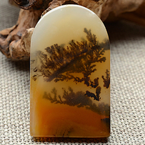 Tuber jewelry ice group slope water plants pendant a goods Jade artistic conception flowers Jade beautiful color grass grass trees