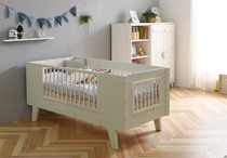 Nordic ins wind solid wood childrens bed crib parenting side bed baby bed primary school over bed Environmental Protection
