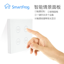 Smart home scenario panel one key control switch full house lighting system Touch wireless remote control 86 products