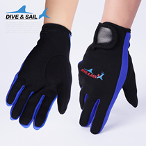 Dive&sail 1.5MM thin with magic sticker snorkeling diving gloves anti-skid winter swimming Gloves