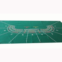 90 * 180cm Baccarat tablecloth non-woven green Baccarat game table cloth promotion