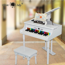Musicbaby30 key flip wooden childrens toys small piano can play simulation baby toys piano