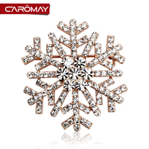 Kalome Jewelry korean fashion rhinestone snowflake brooch Female Korean brooch pin buckle clothes badge Accessories