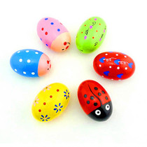 Baby wooden sand egg Sand ball professional musical instruments music teaching aids color ringing rod sand hammer Childrens early education puzzle toys