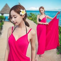 Bikini Hot Spring shawl blouse Beach swimsuit coat Bali backless beach skirt Sling long skirt wrap skirt