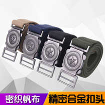 Canvas belt Mens leather belt tactical belt outdoor commando adjustable inner belt nylon Army fan belt