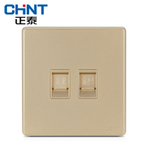 Cheng Tai electrician new wall switch socket NEW2D Champagne Gold telephone computer socket